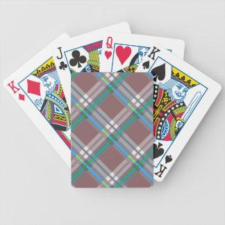 Telas escocesas, controles y tartanes en Brown y t Barajas De Cartas