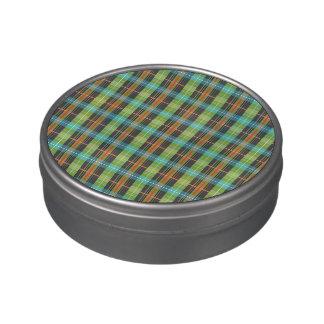 telas escocesas jarrones de dulces