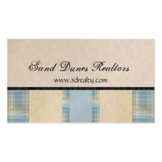 Telas escocesas y sólidos tarjetas de visita