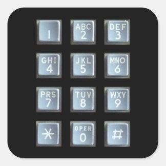 Telclado numérico del botón calcomanía cuadradas