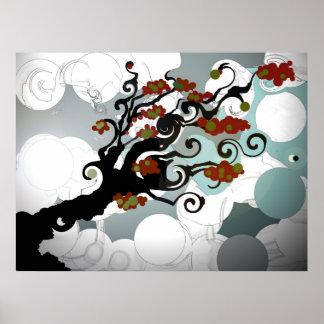 Telda el árbol - poster póster