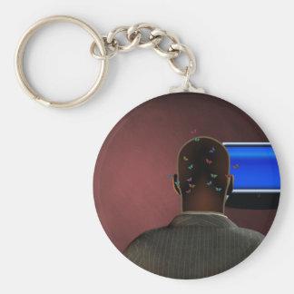 Tele Basic Round Button Keychain