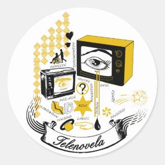 Tele Novela Classic Round Sticker