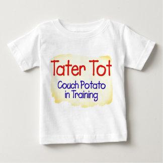 Teleadicto del bebé de Tater en camiseta del niño Playera Para Bebé