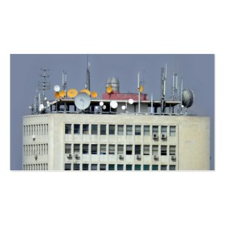 telecommunication antenna business card templates