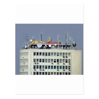 telecommunication antenna postcard