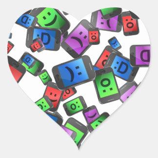 Telecommunication fun. heart sticker