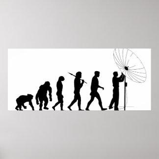 Telecommunications satellite broadcasting evolve poster