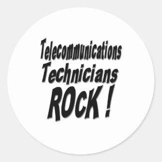 Telecommunications Technicians Rock! Sticker