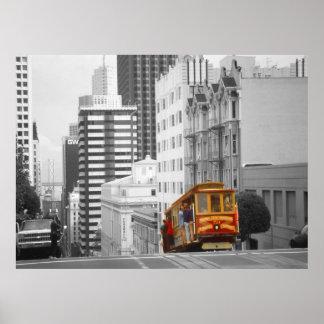 Teleférico de San Francisco - arte de la foto del Póster