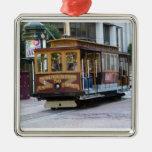 Teleférico de San Francisco Adorno Cuadrado Plateado