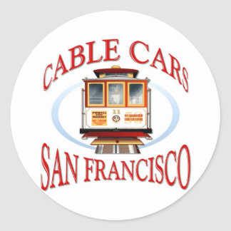 Teleférico de San Francisco Pegatina Redonda