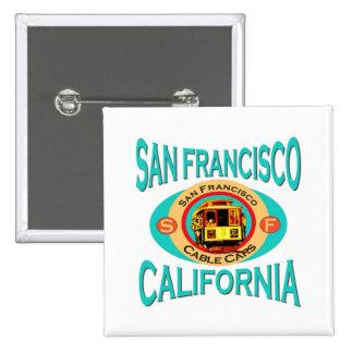 Teleférico de San Francisco Pin Cuadrada 5 Cm