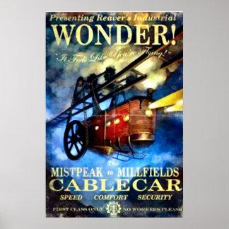 Teleférico del vintage póster