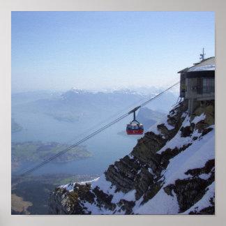 Teleférico Suiza Póster