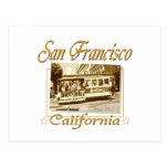 Teleférico viejo de San Francisco Tarjeta Postal