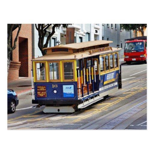 Teleféricos en San Francisco Tarjeta Postal