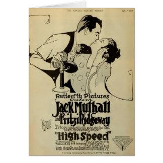 Teléfono 1917 del anuncio del expositor de la pelí tarjeta de felicitación