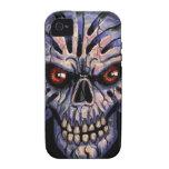 teléfono 4 duro - cráneo inmortal iPhone 4 carcasa