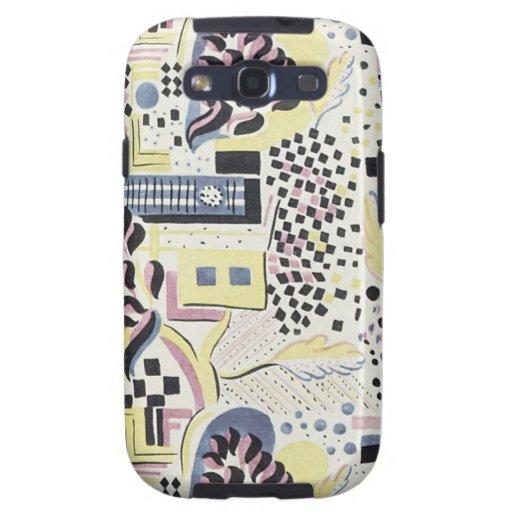 Teléfono abstracto Ca de Seguy del art déco magníf Galaxy S3 Carcasas