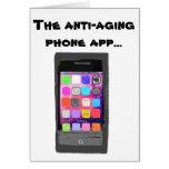 Teléfono antienvejecedor divertido App del feliz c Tarjetón
