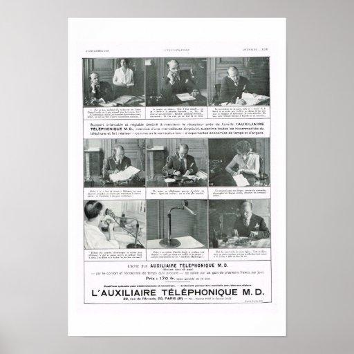 Teléfono auxiliar poster