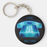 Teléfono azul adaptable llaveros