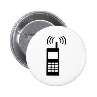 teléfono celular celly mobil práctico pin redondo de 2 pulgadas