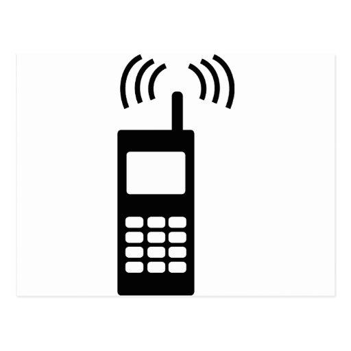 teléfono celular celly mobil práctico tarjetas postales