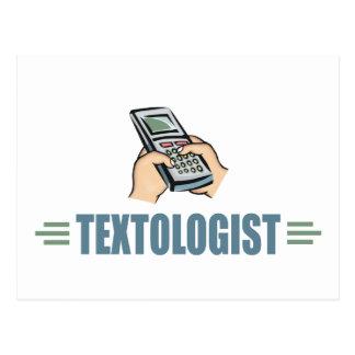 Teléfono celular chistoso Texting Tarjeta Postal