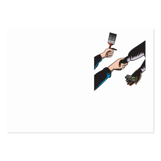 Teléfono celular de la brocha del trueque de las m plantillas de tarjetas de visita