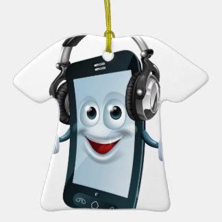 Teléfono celular de los auriculares adorno