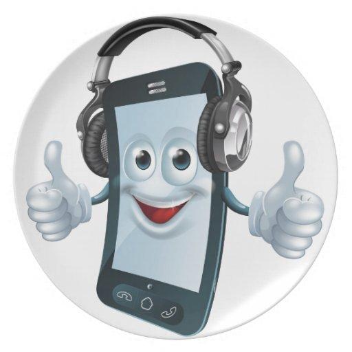 Teléfono celular de los auriculares plato para fiesta