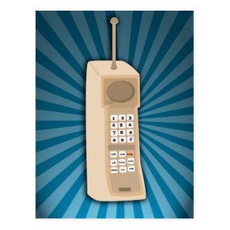 Teléfono celular divertido del ladrillo postal