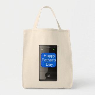 Teléfono celular feliz del día de padres bolsa tela para la compra