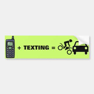Teléfono celular + Pegatina para el parachoques de Pegatina Para Auto