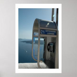 Teléfono con una visión posters