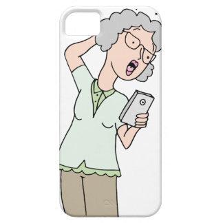 Teléfono confuso de la mujer mayor nuevo funda para iPhone 5 barely there