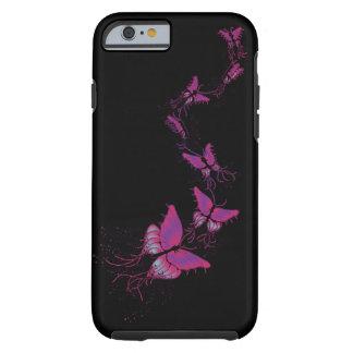 Teléfono de Butterlies/caja rosados de la tableta Funda De iPhone 6 Tough