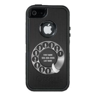 Teléfono de dial rotatorio de la escuela vieja funda OtterBox defender para iPhone 5