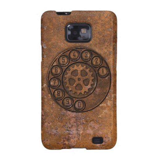 Teléfono de dial rotatorio de Steampunk Galaxy S2 Fundas