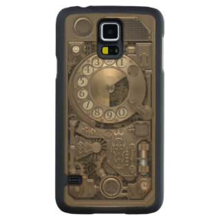Teléfono de dial rotatorio del metal de Steampunk Funda De Galaxy S5 Slim Arce