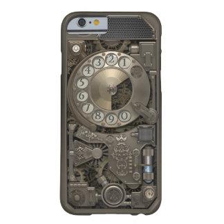 Teléfono de dial rotatorio del metal de Steampunk. Funda Para iPhone 6 Barely There