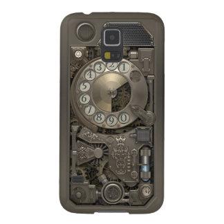 Teléfono de dial rotatorio del metal de Steampunk Carcasa De Galaxy S5