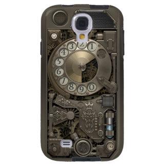 Teléfono de dial rotatorio del metal de Steampunk Funda Para Galaxy S4