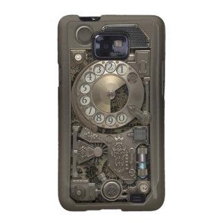 Teléfono de dial rotatorio del metal de Steampunk Galaxy S2 Fundas