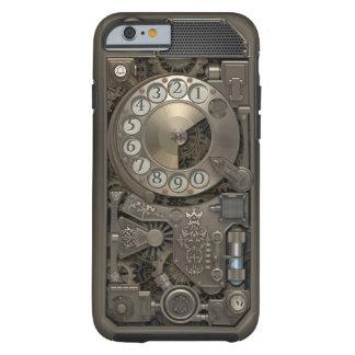 Teléfono de dial rotatorio del metal de Steampunk. Funda De iPhone 6 Tough