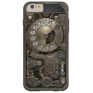 Teléfono de dial rotatorio del metal de Steampunk Funda De iPhone 6 Plus Tough