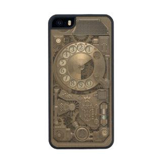 Teléfono de dial rotatorio del metal de Steampunk Funda De Arce Carved® Para iPhone 5 Slim