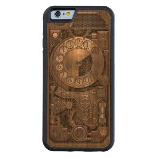 Teléfono de dial rotatorio del metal de Steampunk Funda De iPhone 6 Bumper Cerezo
